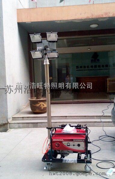 移动发电升降高杆灯