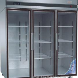 玻璃门展示柜,三门展示柜,双门展示柜,玻璃门陈列柜