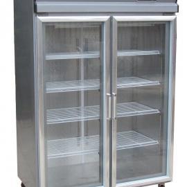商用双门展示柜,玻璃门陈列柜,展示柜,保鲜陈列柜