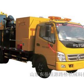 多功能沥青路面热再生修补车配置最高、价格最优!山东东岳恒源是