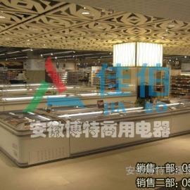 超市冷冻柜,冷冻岛柜,卧式展示冰柜,超市组合岛柜