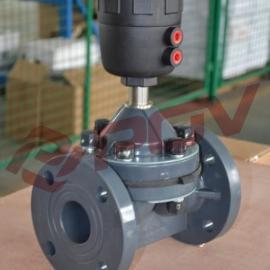 DN80法兰UPVC气动隔膜阀
