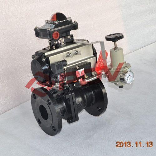 POV Q641F-16C-DN40 碳钢气动球阀
