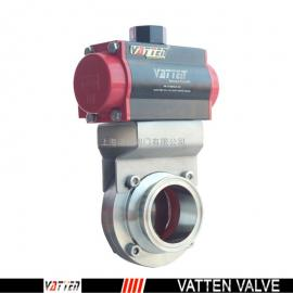 德国VATTEN品牌气动卫生级卡箍蝶阀