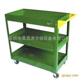 供应铁板轻型工具车 三层手推车 移动工具车 汽修零件工具车