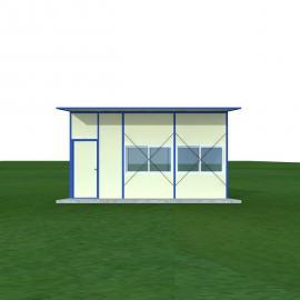 活动板房,K式活动板房,单坡单层活动板房面积34.39平方米