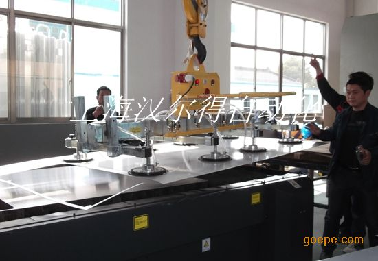 真空吸盘吊具可以激光切割机使用、不锈钢板材真空吸吊机