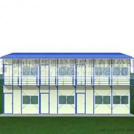 活动板房价格,活动板房图纸,双坡双层活动板房面积168平方米