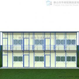 活动板房价格,单坡双层活动板房面积168平方米