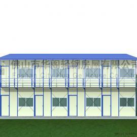 活动板房价格,双坡双层活动板房面积192平方米