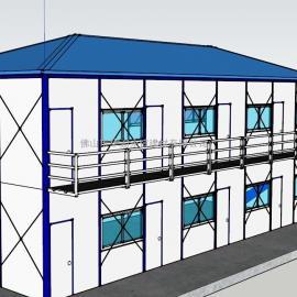 活动板房价格,四面坡双层活动板房面积192平方米
