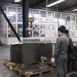 汉尔得供应500kg碳素卷吸盘吊具、炭砖搬运吊具车