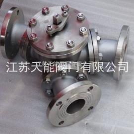 不锈钢Y型三通球阀Q42F-16P