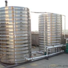 哥顿酒店热水工程保温不锈钢水箱、热水保温管道