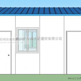 板房价格,T式活动板房,双坡单层活动板房面积
