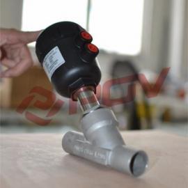 蒸汽焊接气动角座阀