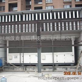 螺杆式风冷热泵噪声治理,热泵机组隔音降噪措施