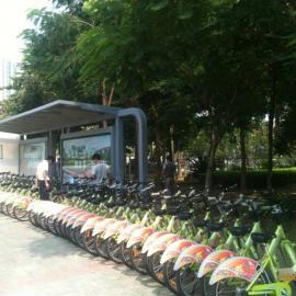 湖南创意广告牌、钢结构厂房、自行车亭棚、公交候车亭最好的厂家