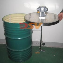 德斯威气动搅拌机|不锈钢立式双浆搅拌机配不锈钢桶盖