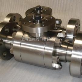 Q41H锻钢三片式硬密封球阀 高清图片