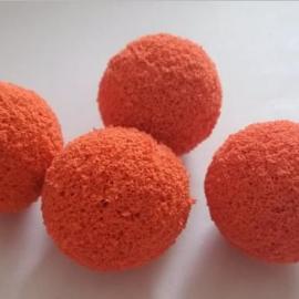 19mm电厂水泥厂凝汽器管道清洗专用剥皮胶球/扒皮胶球