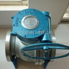Q341F蜗轮软密封浮动球阀