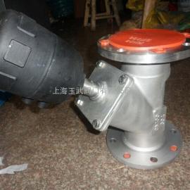 塑料头气动角座阀 法兰气动角座阀