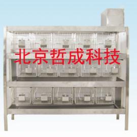 不锈钢冲洗式兔笼 Z5型、15笼位冲洗兔笼北京