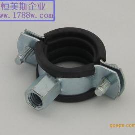 R型卡管夹 橡胶抱箍 波纹管抱箍