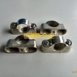 喉箍抱箍 管子夹头 美式卡箍 不锈钢管 紧固环锁紧圈 离墙管码