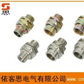 BHJ碳钢镀锌或不锈钢防爆活接头(可以活动接头)