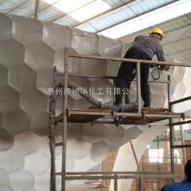祯华化工喷涂聚脲涂料用于泡沫雕塑外表层