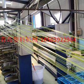 PET聚酯扁丝拉丝机生产线