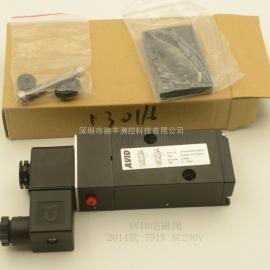 AVID F791N电磁阀 AC220V DC24V 现货代理商高清实拍 中文说明