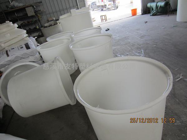厂家直销120L带盖塑料圆桶,PE材质120L塑料桶加工