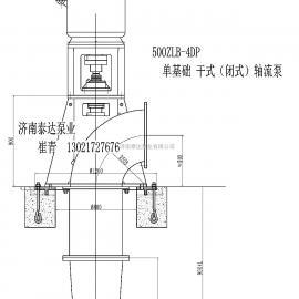 500ZLB-4DP 干式轴流泵