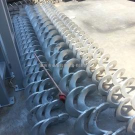 重庆污水处理设备无轴螺旋输送机螺旋叶片批发