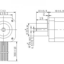信浓抱闸电机Y07-43D1-4275M(出厂型号STP43D2035-01加刹车)