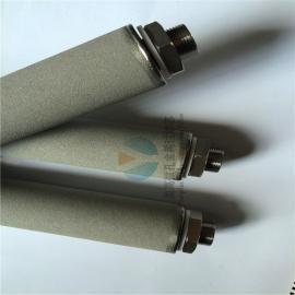 供应不锈钢粉末烧结滤芯---60*500螺纹接口金属滤芯