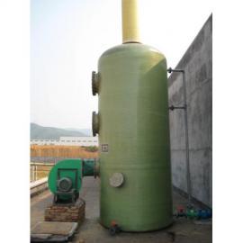 冶炼厂二级喷淋废气处理塔技术安装/玻璃钢吸附塔尺寸