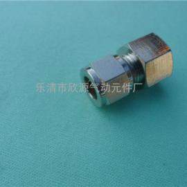专业生产全铜镀镍卡套式接头 卡套终端内螺纹接头