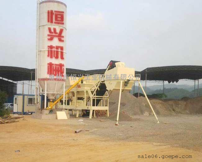 灰土拌合站设备 泉州恒兴稳定土拌合站 稳定土厂拌设备
