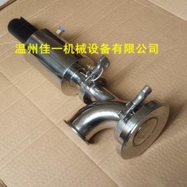 温州产卫生级气动罐底阀(上展式)、不锈钢气动罐底放料阀