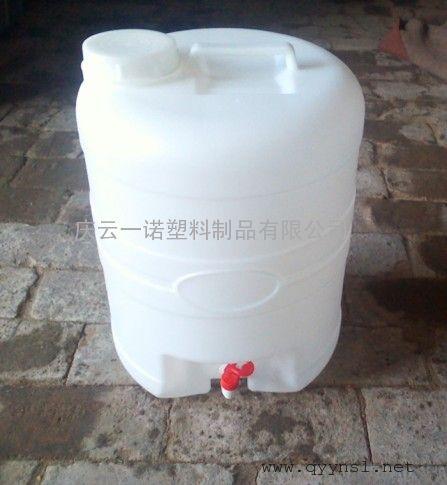 25L带水龙头的塑料桶,25L圆形塑料酒桶,食品级材料