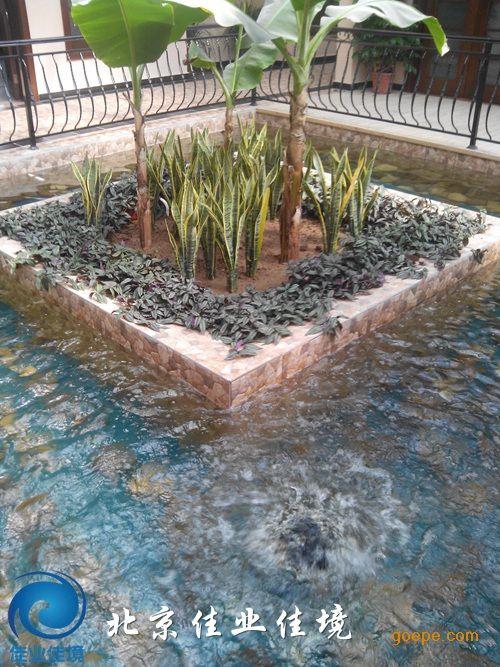 北京方圆平安生态园内部景观水池水处理工程