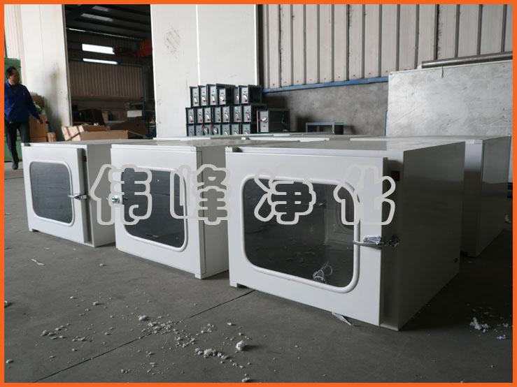 钢板传递窗 机械传递窗外500*500*500 传递柜