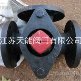 铸铁三通旋塞阀X44W-10
