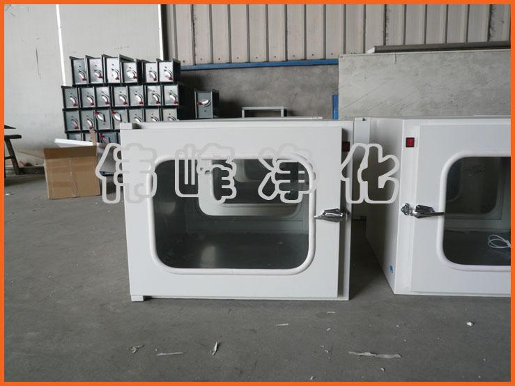 钢板传递窗 机械传递窗内700*700*700 传递柜