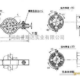 A13 双螺栓管夹(保冷管用)
