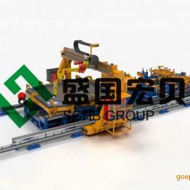 车厢尾板机器人组对焊接工作站,盛国宏贝机器人